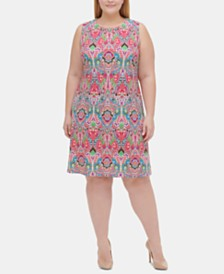 Tommy Hilfiger Plus Size Printed A-line Dress