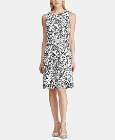 Lauren Ralph Lauren Floral-Print Sleeveless Fit-and-Flare Dress