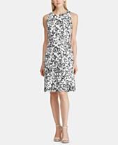 e8613943118d Lauren Ralph Lauren Floral-Print Sleeveless Fit-and-Flare Dress