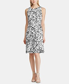 Lauren Ralph Lauren Floral-Print Sleeveless Fit-and-Flare Dress