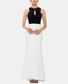 XSCAPE Petite Bow-Top Gown