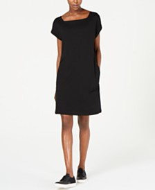 Eileen Fisher Square-Neck Pocket Dress