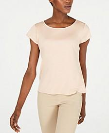 Cap-Sleeve Tencel T-Shirt, Regular & Petite