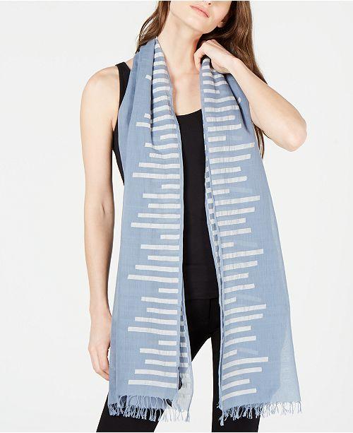 Eileen Fisher Organic Cotton Fringe-Trim Wrap Scarf