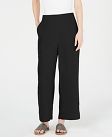 Eileen Fisher Wide-Leg Ankle Pants