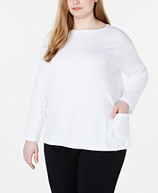 Plus Size Organic Boat-Neck Top