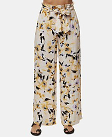Juniors' Alli Floral-Print Soft Pants