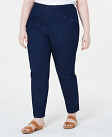 Alfred Dunner Plus Size Lake Tahoe Stretch Pull-On Jeans