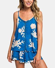Roxy Juniors' Lace-Trim Floral-Print Camisole
