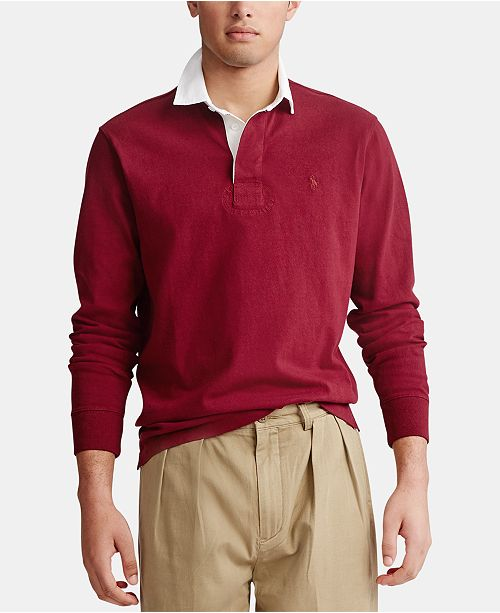 Polo Ralph Lauren Men's Big & Tall Knit Rustic Rugby Polo Shirt