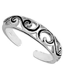 Sterling Silver Filigree Adjustable Toe Ring