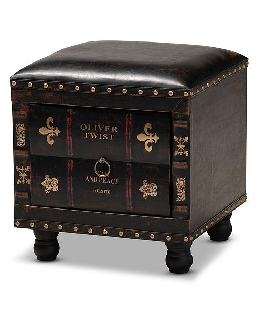 Furniture Charlier Ottoman, Quick Ship