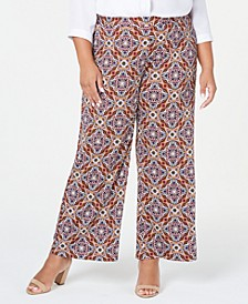 Plus Size Printed Gaucho Pants