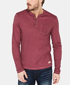 Buffalo David Bitton Men's Karid Solid Pocket Henley