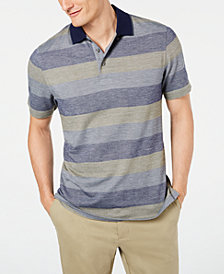 Tasso Elba Men's Supima® Blend Birdseye Striped Polo, Created for Macy's