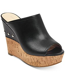 Marc Fisher Hollen Platform Wedge Slip-On Sandals