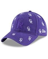 f60e04ee5e605 New Era Women s Colorado Rockies Logo Scatter Adjustable 9TWENTY Cap