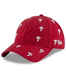 New Era Women's Philadelphia Phillies Logo Scatter Adjustable 9TWENTY Cap