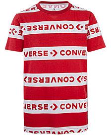 Converse Big Boys Wordmark Stripe Logo T-Shirt