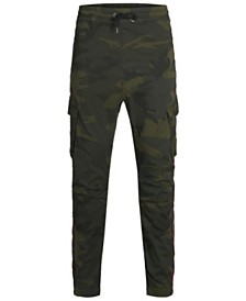 Jack & Jones Men's Striped Camp Cargo Jogger Pants