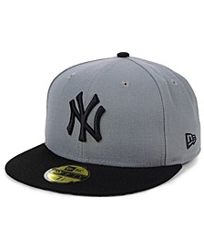 New York Yankees Basic Gray Black 59FIFTY Fitted Cap