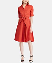 ad70cfd3 Lauren Ralph Lauren Buttoned Fit-and-Flare Dress