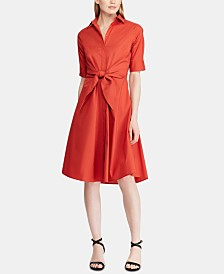 Lauren Ralph Lauren Buttoned Fit-and-Flare Dress