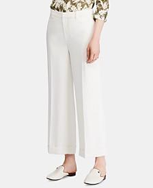 Lauren Ralph Lauren Twill Wide-Leg Pants