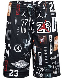 Jordan Big Boys GFX Printed Mesh Shorts