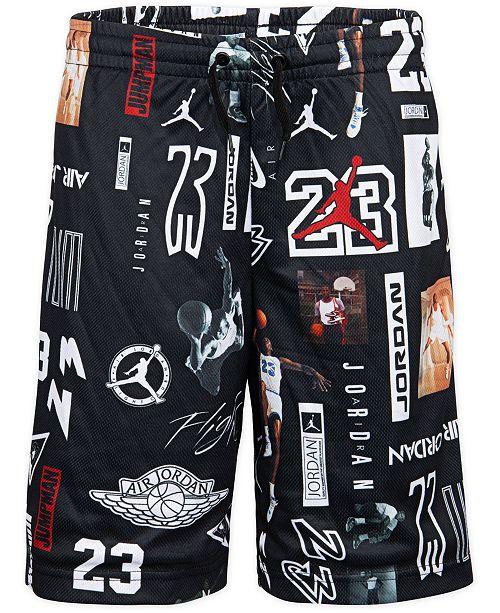 Jordan Big Boys GFX Printed Mesh Shorts