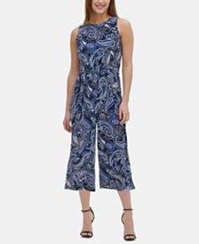 Tommy Hilfiger Printed Cropped Jumpsuit