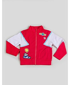 Big and Little Boy's Tracksuit Jacket with Patchwork