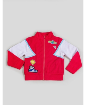 Kinderkind Big and Little Boy's Tracksuit Jacket with Patchwork