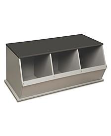 Three Bin Stackable Storage Cubby