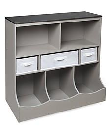 Combo Bin Storage Unit With Three Baskets
