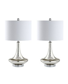 Jonathan Y Cecile Glass Teardrop LED Table Lamp - Set of 2