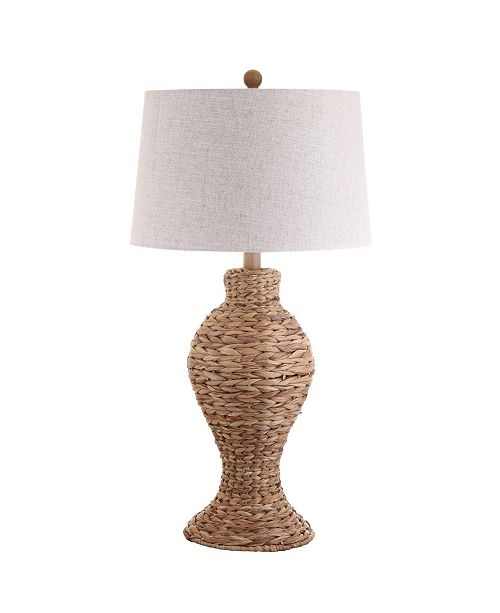 JONATHAN Y Elicia Seagrass Weave Led Table Lamp