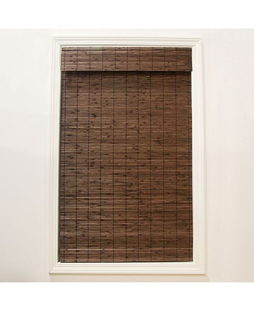 "RADIANCE Cordless Bamboo Dockside Privacy Weave Roman Shade, 35"" x 64"""