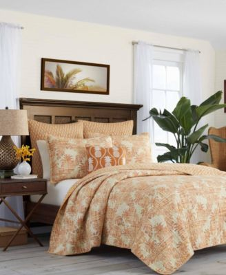 Tommy Bahama Batik Pineapple Raw Sienna Quilt, Full/Queen