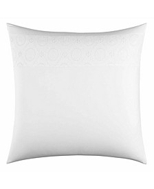 Tommy Bahama Siesta Key Pineapple Eyelet White Breakfast Pillow