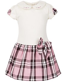 Little Girls T-Shirt Plaid Dress