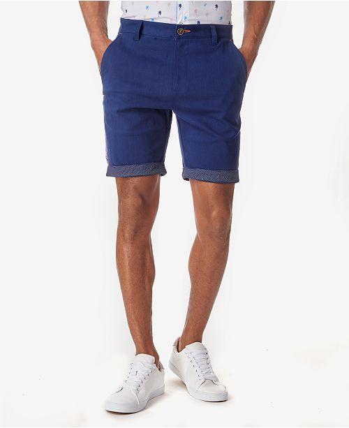 Tallia Men's Ornate Side Panel Contrast Cuff Chino Shorts