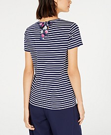 Striped Bow-Back T-Shirt