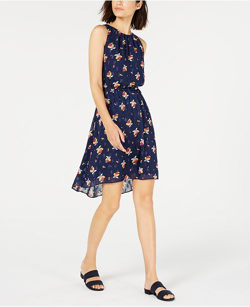 Maison Jules Cinched-Waist Halter Dress, Created for Macy's