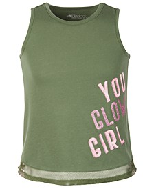 Little Girls Mesh-Trimmed Graphic Tank Top, Created for Macy's
