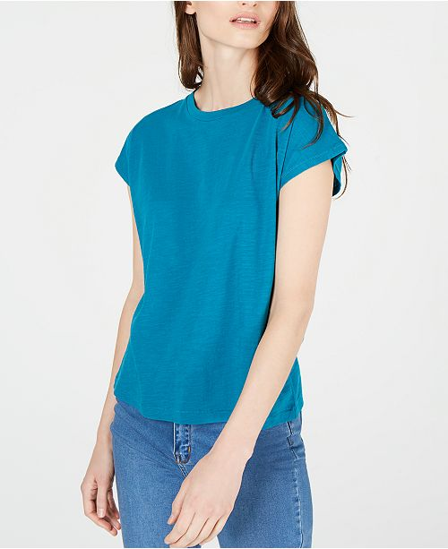 Eileen Fisher Cotton Crewneck T-Shirt