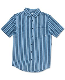 Element Men's Rainker Striped Woven Short Sleeve Shirt