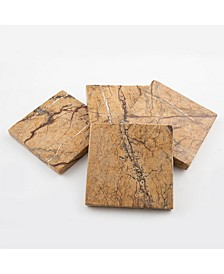 Set of 4 Rainforest Marble Coasters
