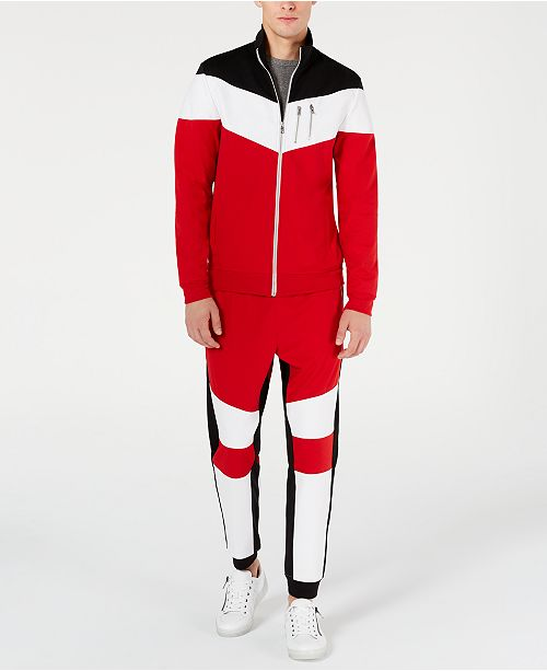 INC International Concepts INC Lauderdale Colorblocked Jogger Pants & Jacket, Created for Macy's