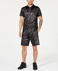 INC Scotty Faux Leather Shorts & Hoodie, Created for Macy's